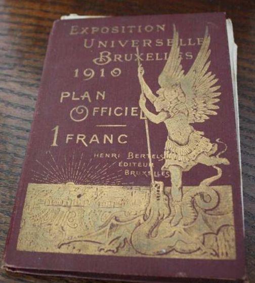 Boekje met plattegrond Wereldtentoonstelling Brussel 1910
