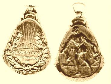 Medaille gewonnen door Smit Slikkerveer op de Wereldtentoonstelling Brussel 1910