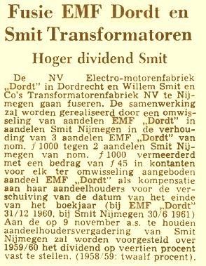 Fusie EMF Dordt en Smit Transformatoren