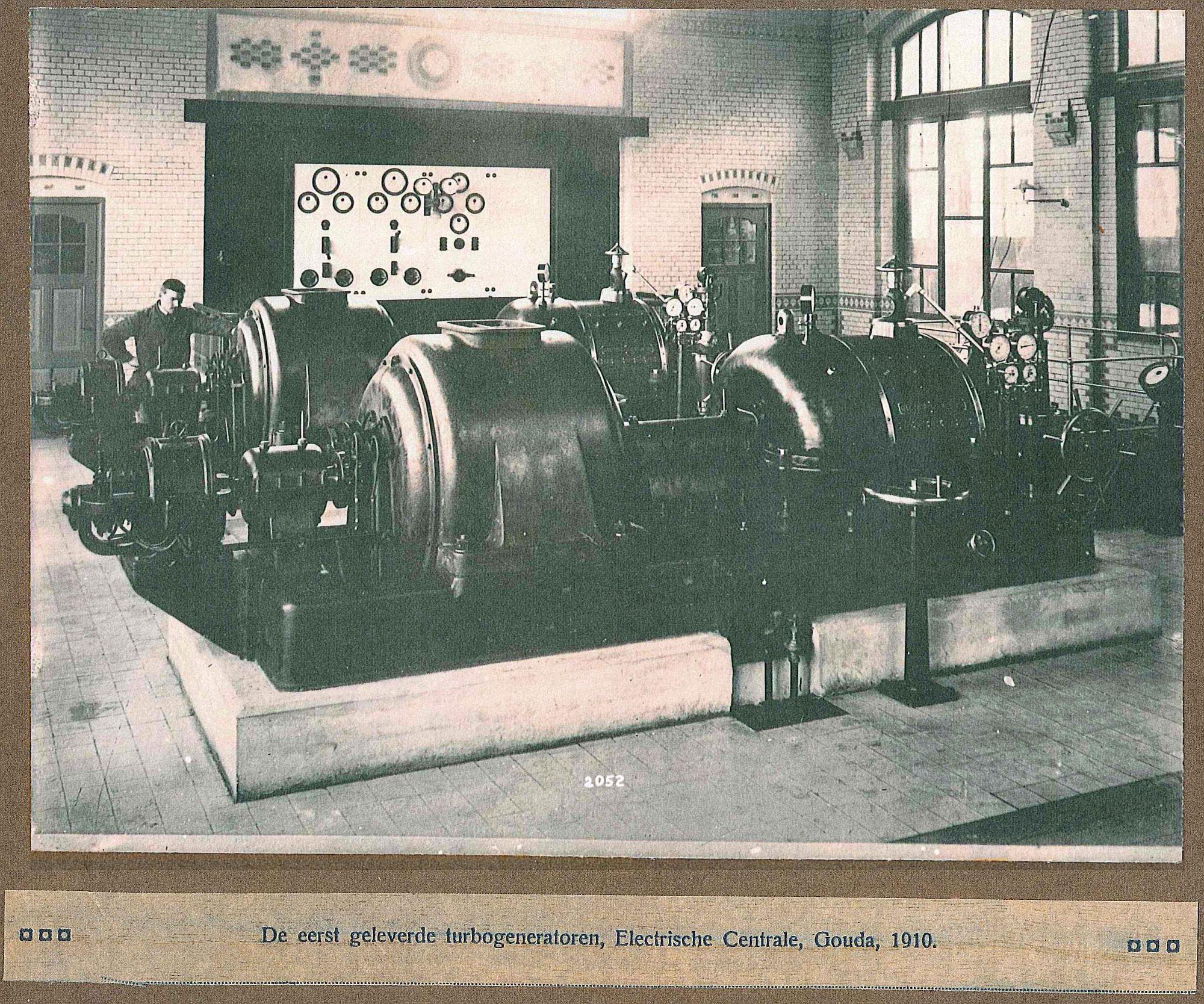 Turbogeneratoren van Smit Slikkerveer voor Gouda 1910